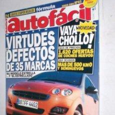 Coches: REVISTA AUTOFACIL Nº41 2004 VIRTUDES DEFECTOS DE 35 MARCAS,MAZDA 3,SEAT IBIZA,DAEWOO LACETI CLIO. Lote 212489933