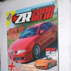 Coches: REVISTA ZONA ROJA Nº41 2005 ALFA GT,SEAT LEON SUPERCOPA,GOLF GTI,BMW M3,SUPRA 750,RUF-STOLA R SPYDER. Lote 212707638