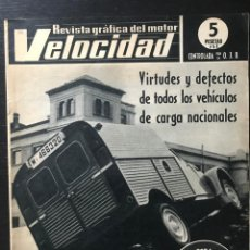 Carros: VELOCIDAD Nº 232 - CITROEN 2 CV FURGONETA AZU RENAULT 4 UN MILLON DUCATI 250 24 HORAS G. LEPORI. Lote 213355013