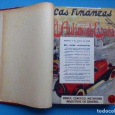 Coches: LAS FINANZAS EL AUTOMOVIL EN ESPAÑA - 1 TOMO - 21 REVISTAS, AÑO 1928. Lote 213805812