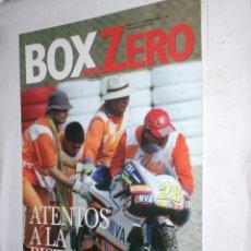 Coches: REVISTA BOX ZERO Nº4 12/2005 CARRERAS AUTOMOVILISMO Y CONCENTRACION CLASICOS,ATENTOS A LA PISTA. Lote 214359062