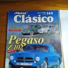 Coches: MOTOR CLÁSICO - Nº 144-2000 - DOSSIER PEGASO Z 102, RENAULT 4 CV, VW ESCARABAJO, TERROT MOTORETTE. Lote 214463116