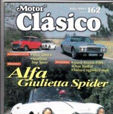 Coches: MOTOR CLASICO Nº 162 ALFA GIULIETTA SPIDER. Lote 214863492