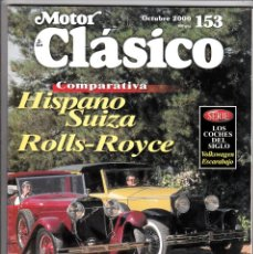 Coches: MOTOR CLASICO Nº 153 HISPANO SUIZA ROLLS-ROYCE. Lote 214864348