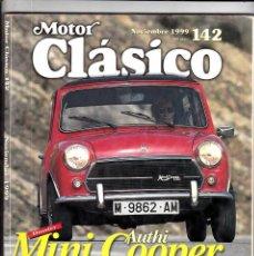 Coches: MOTOR CLASICO Nº 142 MINI COOPER. Lote 214869470