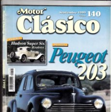 Coches: MOTOR CLASICO Nº 140 PEUGEOT 203. Lote 214869798