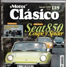 Coches: MOTOR CLASICO Nº 139 SEAT 850 COUPE Y SPIDER. Lote 214869862
