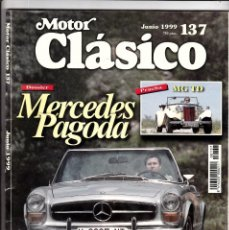 Coches: MOTOR CLASICO Nº 137 MERCEDES PAGODA. Lote 214869987