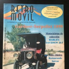 Coches: RETROMOVIL Nº 4 MOTOR CLASICO - WOLSELEY 14 HP AUTOMOVILES DE VAPOR NUVOLARI MG TD MGB HARLEY 20F. Lote 218186235