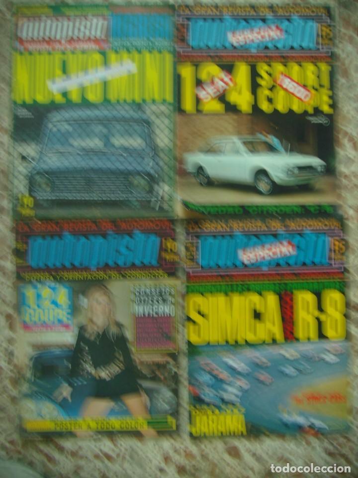 LOTE 33 REVISTAS AUTOPISTA DE 69 - DE LOS 70 Y 80 (PORTADA LOS PAYOS) (Coches y Motocicletas Antiguas y Clásicas - Revistas de Coches)