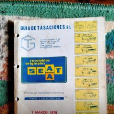 Coches: LIBRO DE RECAMBIOS SEAT AÑO 1979 COCHES CLASICOS. Lote 218548482