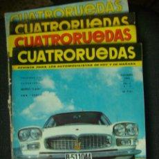 Coches: LOTE 4 REVISTAS CUATRORUEDAS DECADA DE LOS 60. Lote 218686137