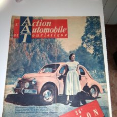 Coches: L'ACTION AUTOMOBILE ET TURISTIQUE 4 CV RENAULT /INTERIOR CITROEN 2 CV Y MUCHOS MAS/36 SALON /OCT. 49. Lote 218936285