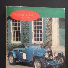 Coches: LIBRO DE COCHES - VINTAGE CARS ( BARRON - TUBBS) - HISPANO SUIZA. Lote 219397546