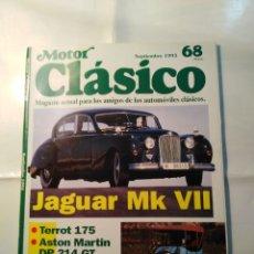 Coches: REVISTA MOTOR CLÁSICO Nº 68 SEPTIEMBRE 1993 - ANTONIO CREUS I - TERROT 175 - JAGUAR MK VII. Lote 219531973