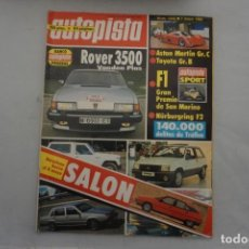 Carros: AUTOPISTA Nº 1242 - 1983 - ROVER 3500 VANDEN PLAS - ASTON MARTIN GR.C - TOYOTA GR-B. Lote 219683807