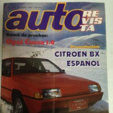 Coches: AUTOREVISTA Nº1325 (16/4/83) CITROEN BX, OPEL CORSA, BARREIROS, CITROEN CX. Lote 220644026