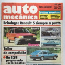 Coches: AUTOMECANICA Nº140 (NOVIEMBRE 1981) SEAT 131, RITMO, BMW, RENAULT 9, RENAULT 5. Lote 220649375