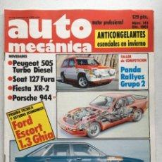Coches: AUTOMECANICA Nº 141 (DICIEMBRE 1981) SEAT PANDA, VW GOLF GTI TURBO, FORD ESCORT, PORSCHE 944. Lote 220650075