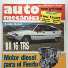 Voitures: AUTOMECANICA Nº161 (AGOSTO 1983) CITROEN BX, BMW 528I, FORD ESCORT, ALFA 33. Lote 220653501
