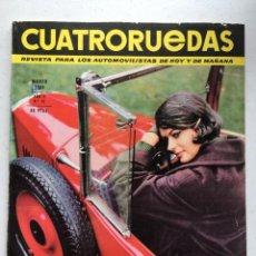Coches: CUATRORUEDAS Nº 15 (MARZO 1965) FIAT 850, LANCIA FULVIA COUPE, ALFA ROMEO GIULIA GTA. Lote 220656928