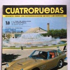 Coches: CUATRORUEDAS Nº30 (JUNIO 1966) MASERATI MISTRAL, FIAT 1100 R, SIMCA 1000 AUTOMATICO, ALFA ROMEO. Lote 220665042
