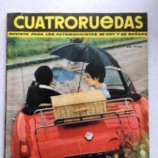 Coches: CUATRORUEDAS Nº4 (1964) VOLKSWAGEN ESCARABAJO, RENAULT GORDINI, SEAT 600. Lote 220667230