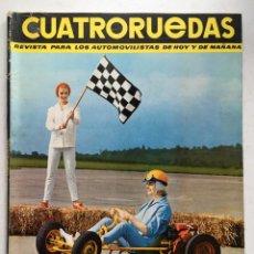 Coches: CUATRORUEDAS Nº9 (SEPTIEMBRE 1964) RENAULT 8, SEAT 600, CHEVROLET, DKW F1000 D. Lote 220669403