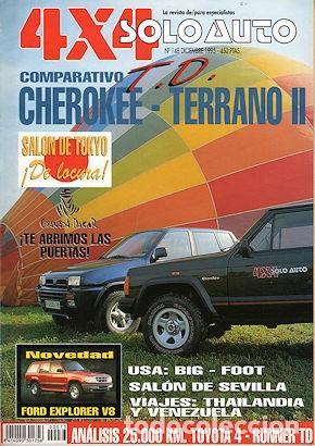SOLO AUTO 4X4 Nº 148 JEEP CHEROKEE NISSAN TERRANO II TOYOTA 4-RUNNER (Coches y Motocicletas Antiguas y Clásicas - Revistas de Coches)