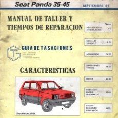Coches: MANUAL DE TALLER Y TIEMPOS DE REPARACIÓN *** SEAT PANDA 35-45 **** SEPTIEMBRE 1981. Lote 220856415