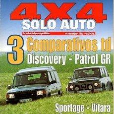 Coches: SOLO AUTO 4X4 Nº 160 JEEP WRANGLER LAND ROVER DISCOVERY NISSAN PATROL GR KIA SPORTAGE VITARA. Lote 261275995