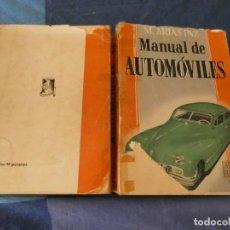 Coches: MANUAL ARIAS PAZ DEL AUTOMOVIL 10 A ED 1947 FALLOS MENORES EN TAPAS AUN CORRECTISIMO. Lote 221343166