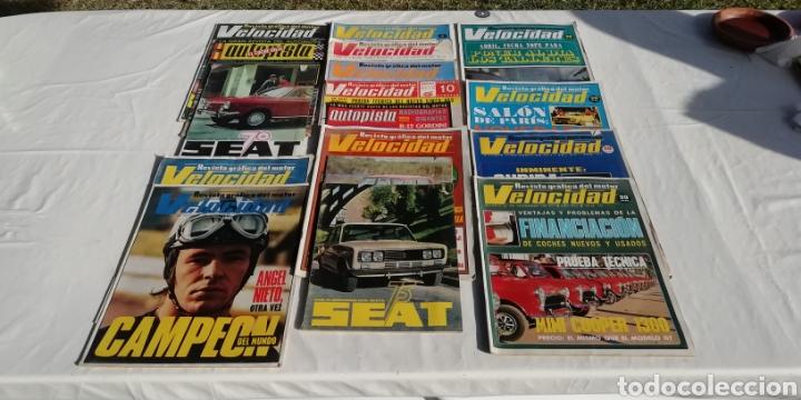 LOTE DE REVISTAS ANTIGUAS DE AUTOMOVILISMO, SEAT, VELOCIDAD. (Coches y Motocicletas Antiguas y Clásicas - Revistas de Coches)