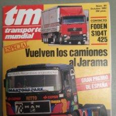 Coches: REVISTA TRANSPORTE MUNDIAL N. 64 DE 1992 CAMION FODEN MERCEDES. Lote 221687000