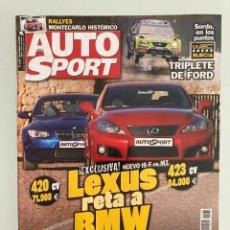 Coches: AUTO SPORT 1168,LEXUS IS F, BMW M3, RALLY SUECIA, RALLY MONTECARLO HISTORICO, TATA XENON. Lote 221753782