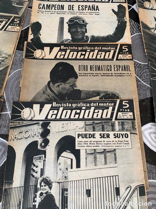 Coches: 11 REVISTAS GRAFICAS DEL MOTOR VELOCIDAD AÑO 1963 - Foto 3 - 221925848