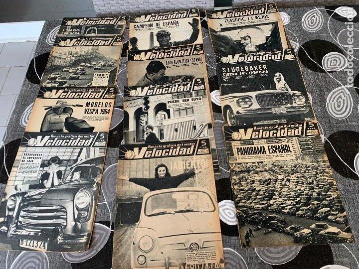 11 REVISTAS GRAFICAS DEL MOTOR VELOCIDAD AÑO 1963 (Coches y Motocicletas Antiguas y Clásicas - Revistas de Coches)