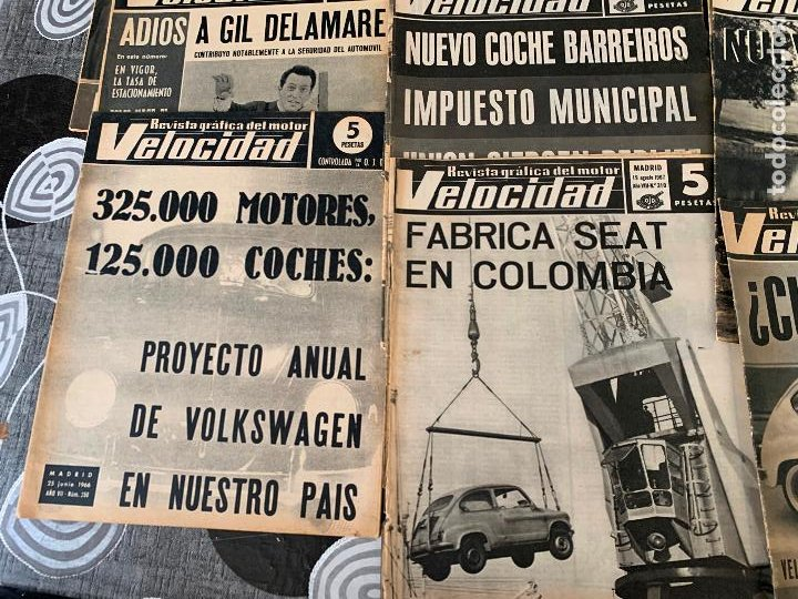 Coches: 14 REVISTAS GRAFICAS DEL MOTOR VELOCIDAD AÑO 1966 - Foto 4 - 221927316