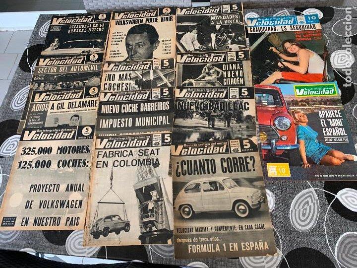 14 REVISTAS GRAFICAS DEL MOTOR VELOCIDAD AÑO 1966 (Coches y Motocicletas Antiguas y Clásicas - Revistas de Coches)