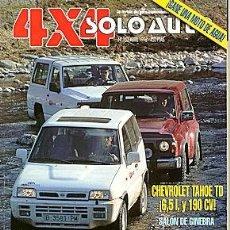 Coches: SOLO AUTO 4X4 Nº 152 CHEVROLET TAHOE RANGE ROVER TOYOTA LAND CRUISER NISSAN PATROL GR TERRANO II. Lote 222365630