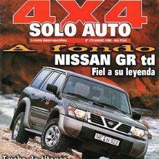Coches: SOLO AUTO 4X4 Nº 173 NISSAN PATROL GR JEEP GRAND CHEROKEE RANGE ROVER V8 LINCOLN NAVIGATOR. Lote 222484826