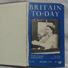 Coches: REVISTA BRITAIN TO-DAY, 1953, NUMEROS DEL 201-212. Lote 222502720