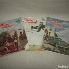 Coches: ANTIGUO LOT DE 3 REVISTAS MOTOR MUNDIAL 1948 - 1949 - 1950. Lote 222548007
