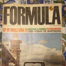 Carros: REVISTA FORMULA N°19 MAYO 1968. Lote 222597765