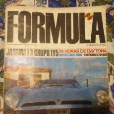 Carros: REVISTA FORMULA N°18 ABRIL 1968. Lote 222598023