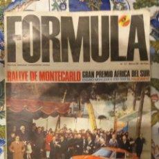 Carros: REVISTA FORMULA N°17 MARZO 1968. Lote 222598226