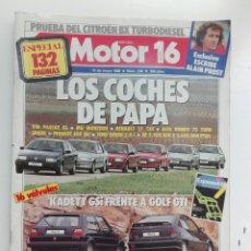 Carros: MOTOR 16- N 238 - MAYO 1988 - OPEL KADETT GSI FRENTE VW GOLF GTI - LOS COCHES DE PAPA -132 PAG. Lote 222827852