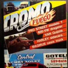 Coches: CROMO & FUEGO - REVISTA - NUM. 10 - 1988 - DOBLE POSTER - TUNING - DRAGSTER - CUSTOM -NO USO CORREOS. Lote 287553873