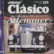 Coches: REVISTA MOTOR CLÁSICO OCTUBRE 1998 Nº 129. Lote 230086520