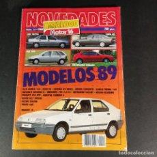 Coches: NOVEDADES CATÁLOGO MOTOR 16 NUM 13 1988 MODELOS 89 LANCIA PEUGEOT MERCEDES NISSA PORSCHE SUZUKI AUDI. Lote 230655390